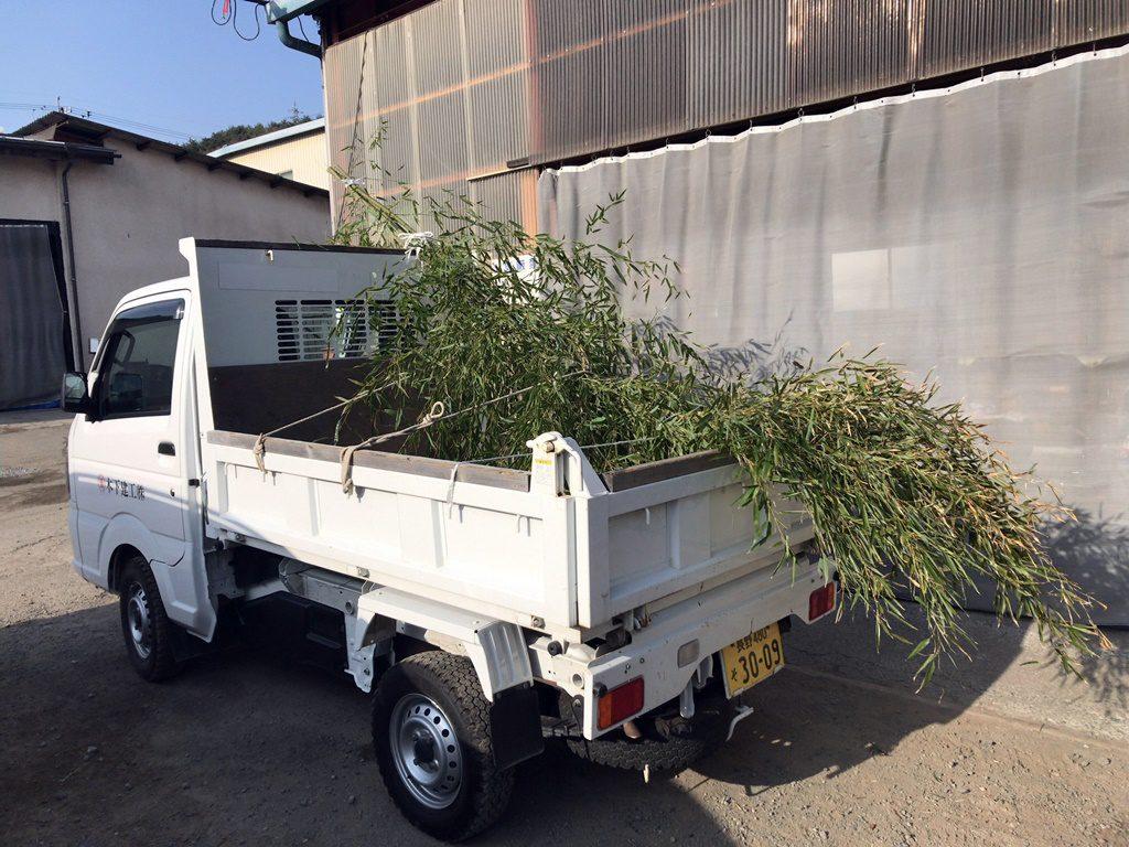 軽井沢町追分新築地鎮祭の竹